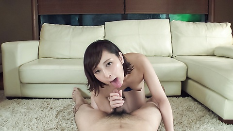 Sexy amateur amazes with supreme Asian blowjob